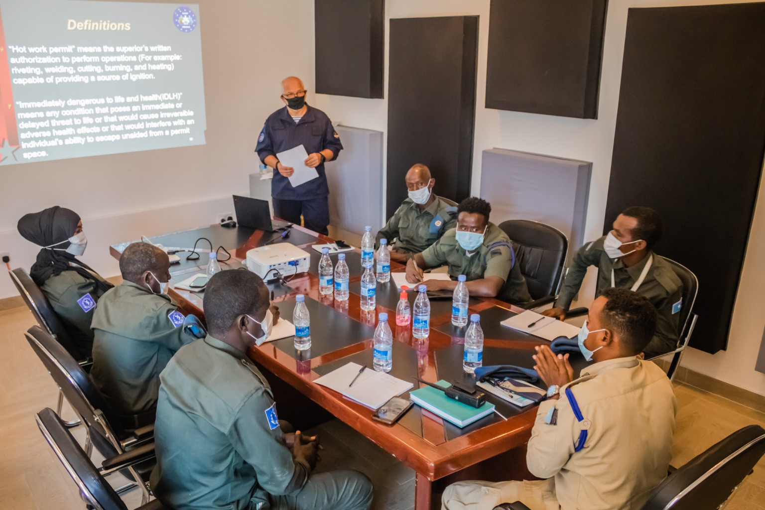 Somali Coast Guard improving their skills on confined space search  operations - EUCAP Somalia